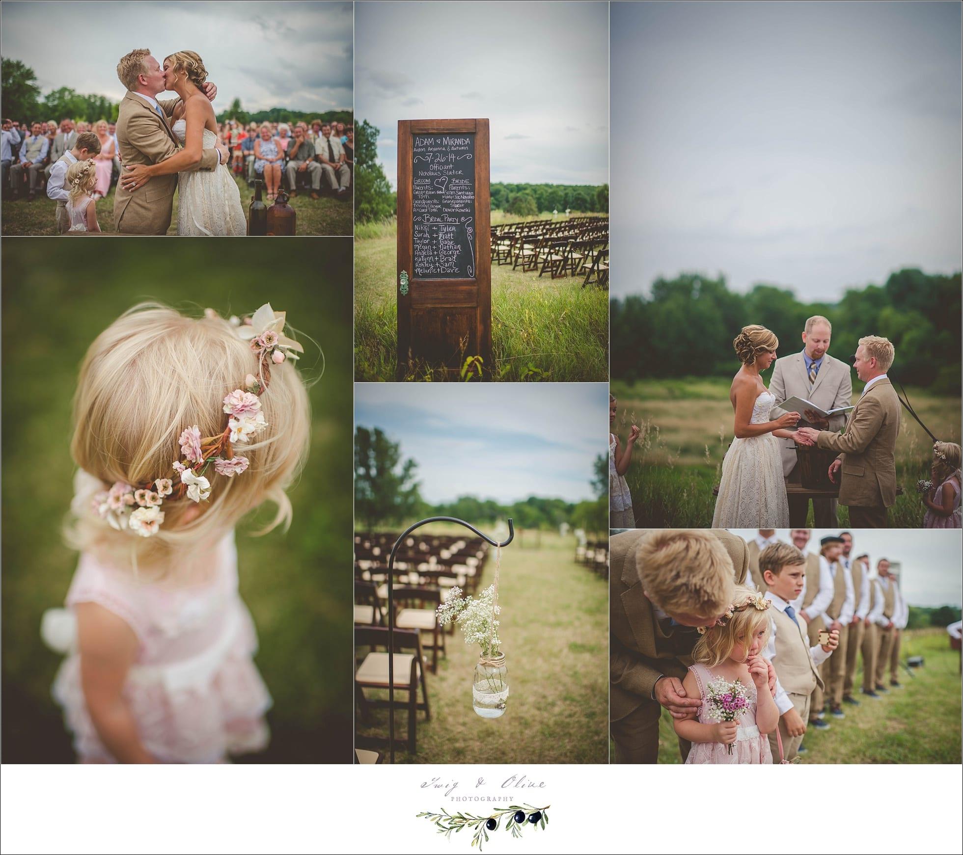Outdoor Wedding Wisconsin: Twig & Olive PhotographyMiranda & Adam