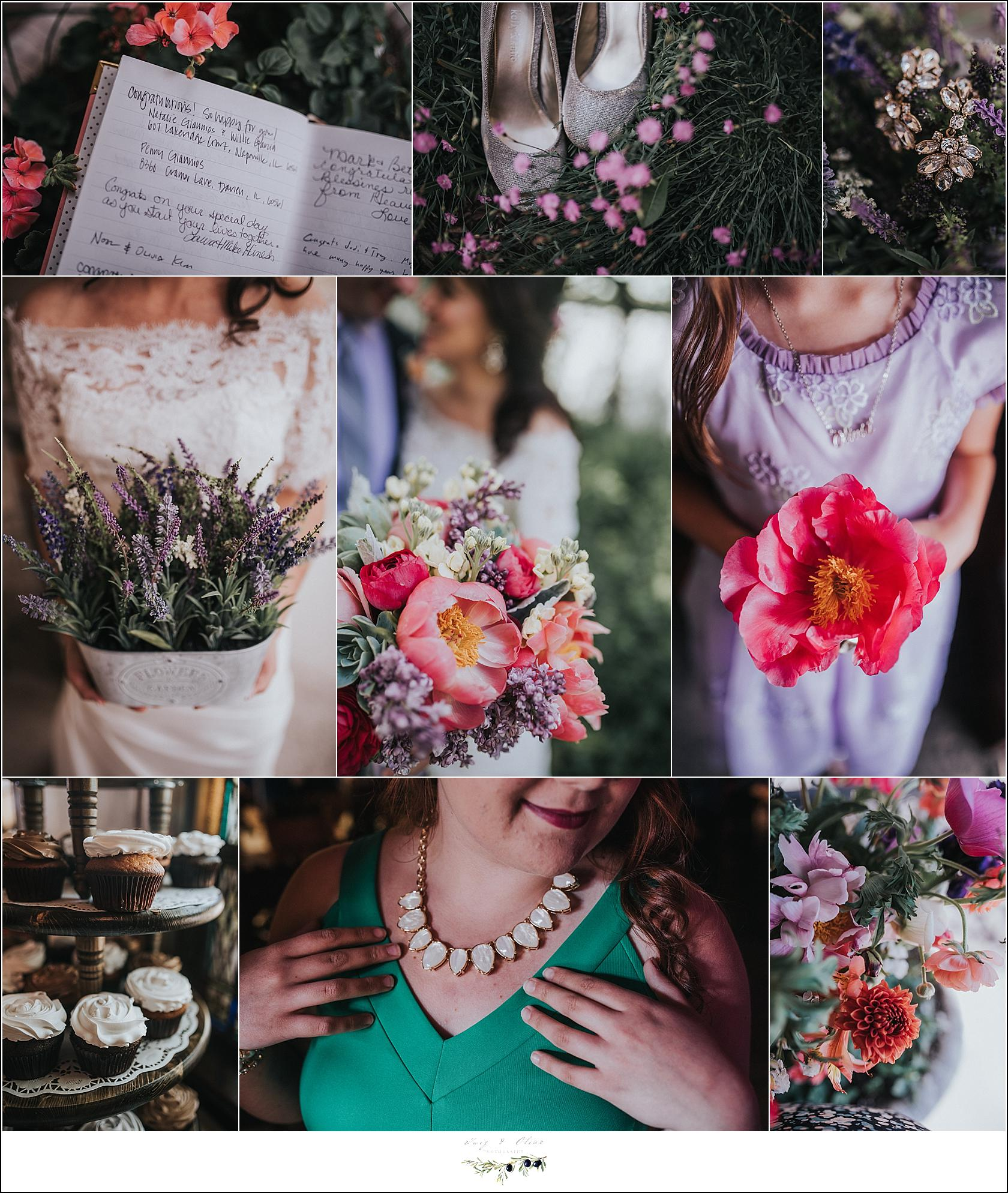 fresh floral wedding details