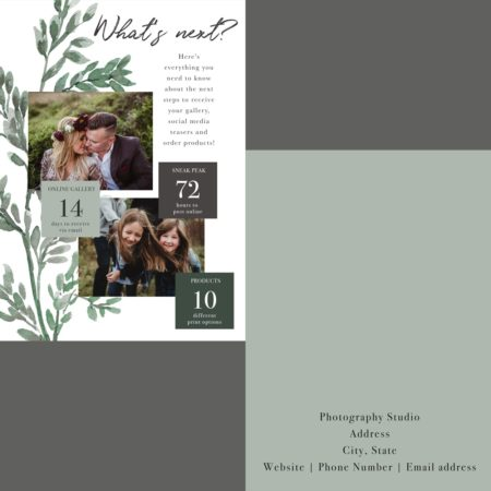 Photography Templates and Branding