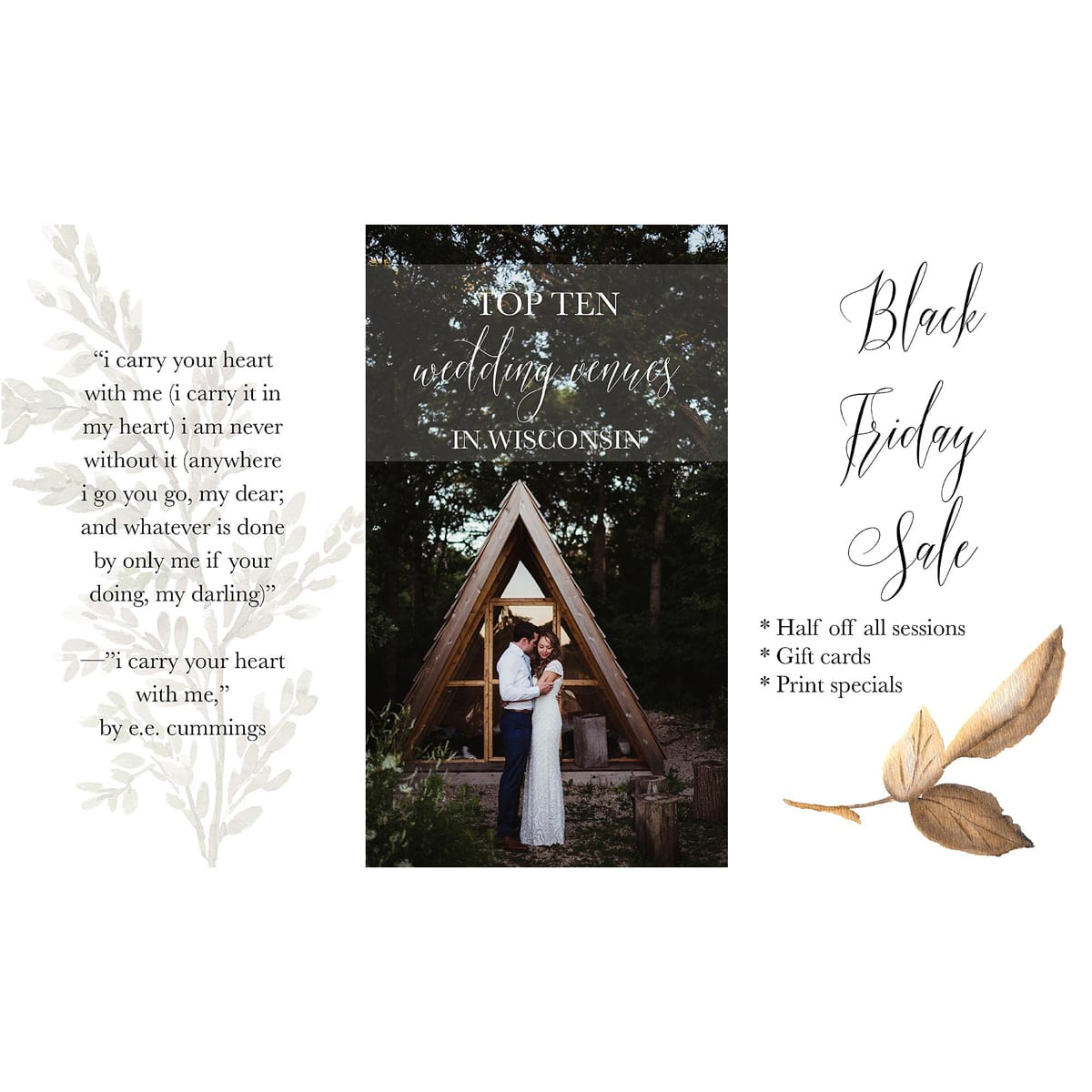 Twig Olive Photographysocial Media Template Pack Simple Fern