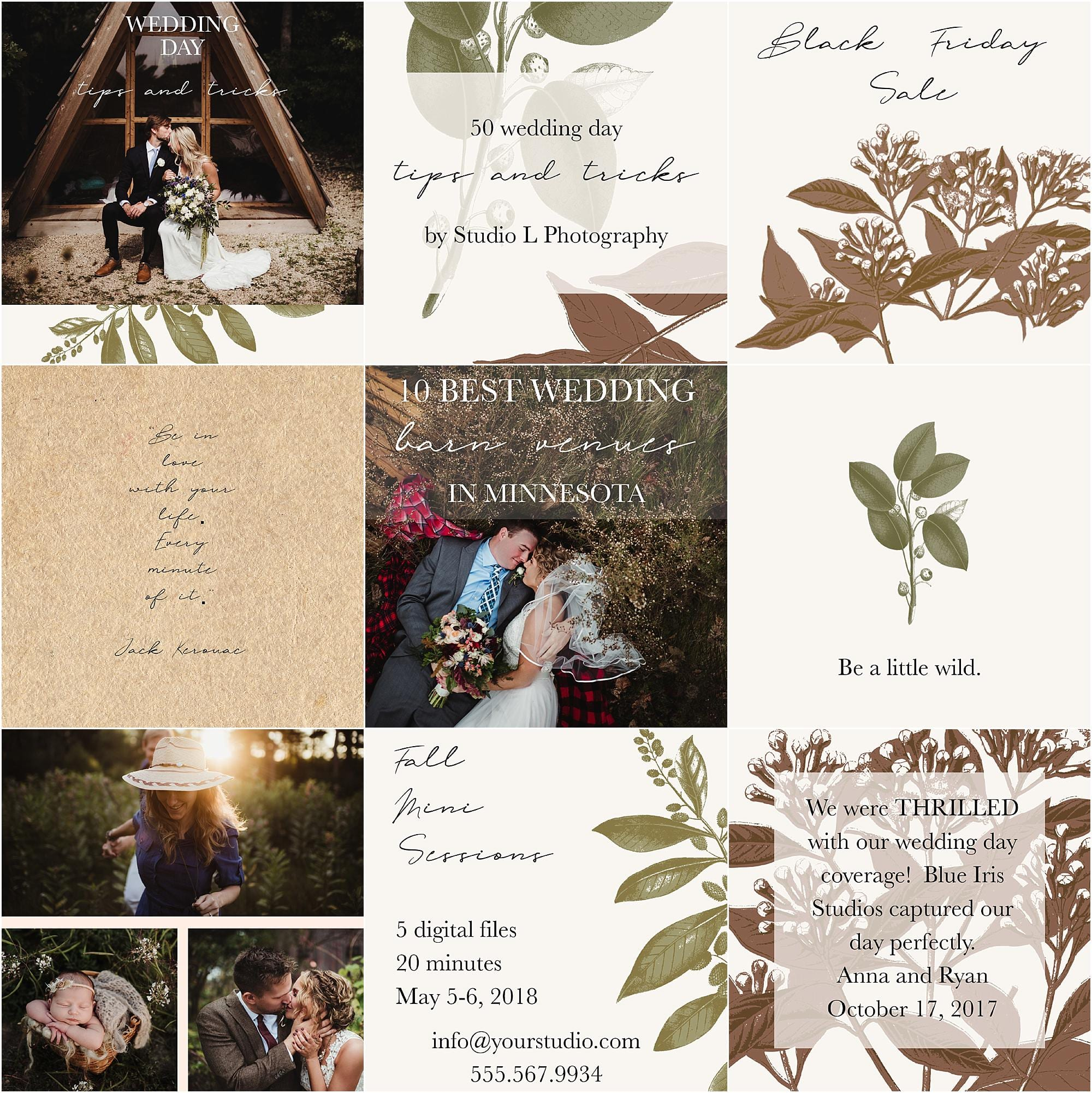 Twig Olive PhotographySocial Media Template Pack Rustic - Mediatemplate