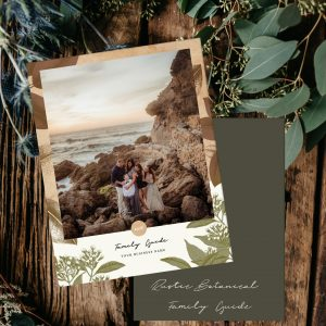 Family Portrait Pricing Guide Template | Rustic Botanical