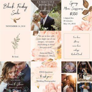 Social Media Template Pack | Blush