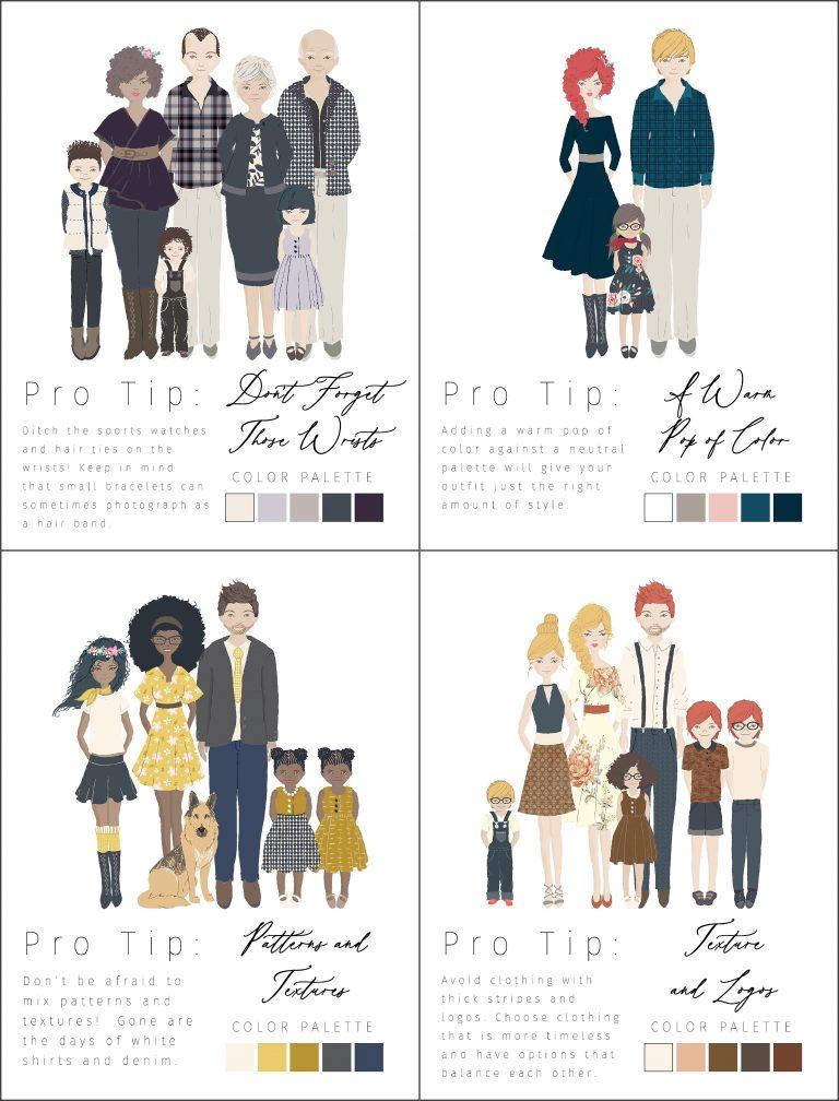 Outfit Inspiration Guide   Families + Couples Bundle
