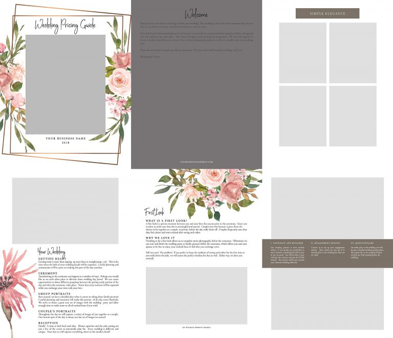 Wedding Pricing Guide Template | Geometric Floral