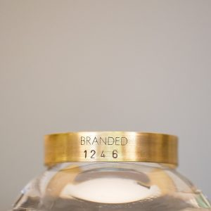 Small Brass BRANDED Cuff