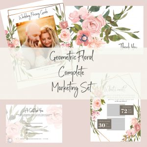 Complete Marketing Set | Geometric Floral