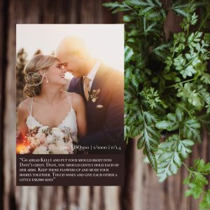 Spiral Bound Wedding and Couples Prompt Card Booklet