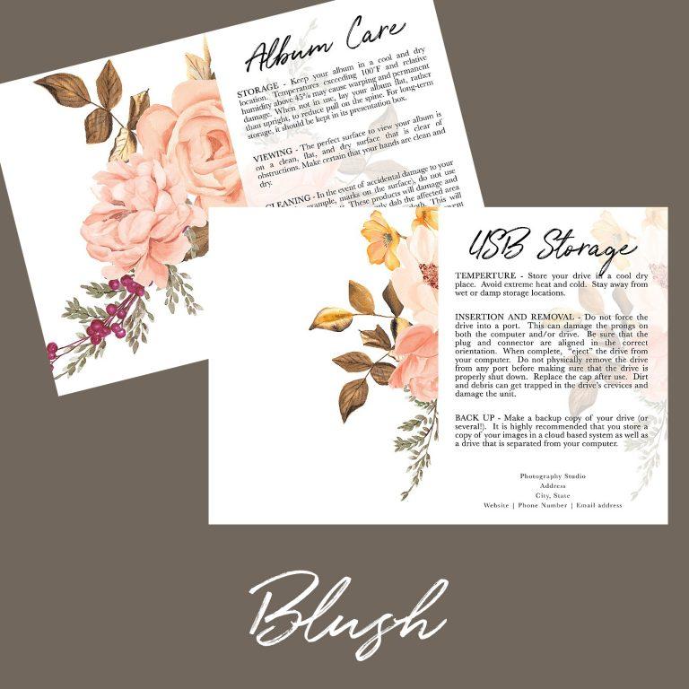 Client Care Cards | Blush