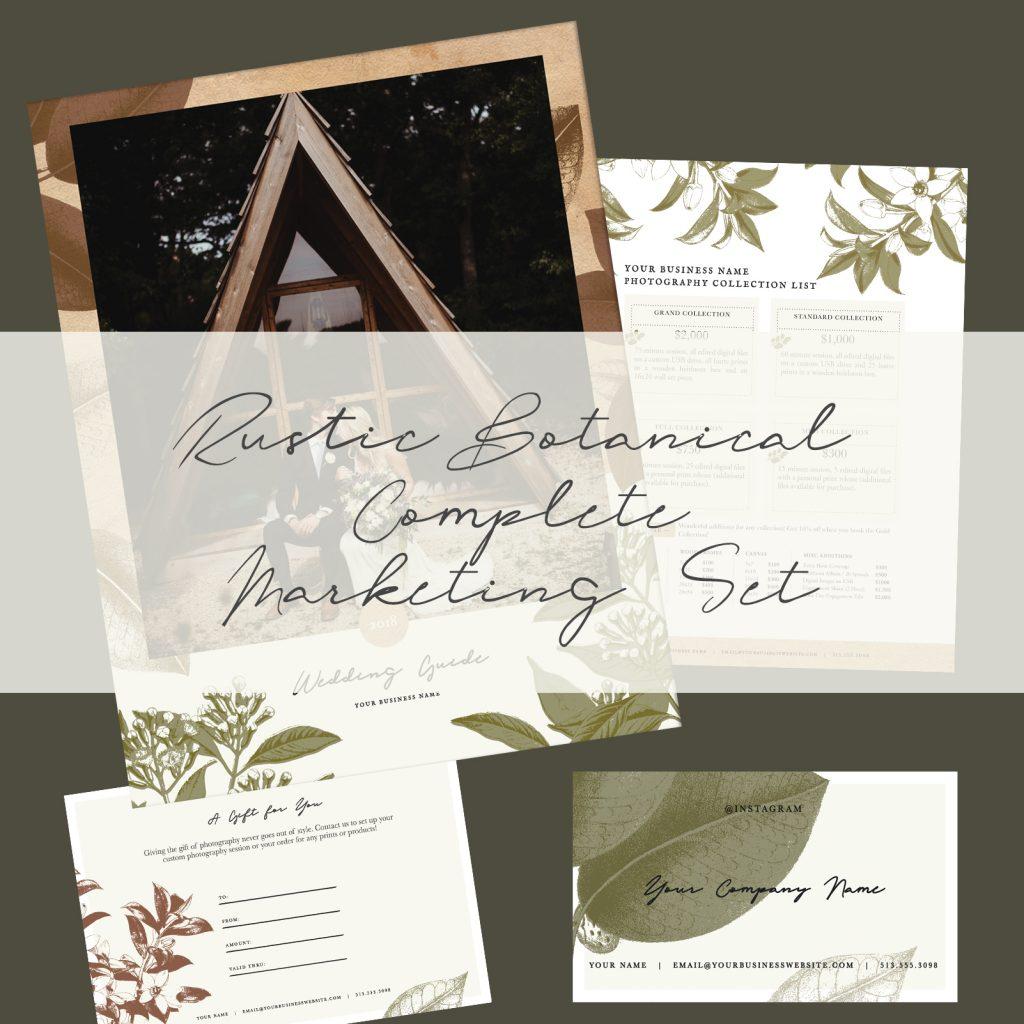 Complete Marketing Set | Rustic Botanical