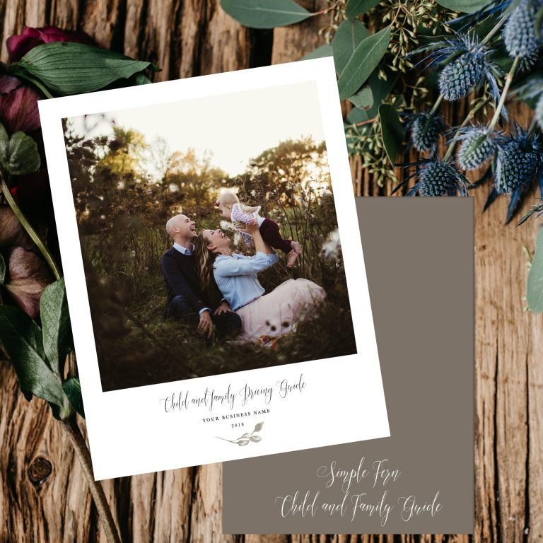 Family Portrait Pricing Guide Template | Simple Fern