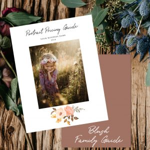 Family Portrait Pricing Guide Template | Blush