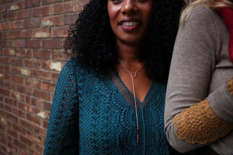 Branded Collective | Textured Mixed Metal Lariat Necklace