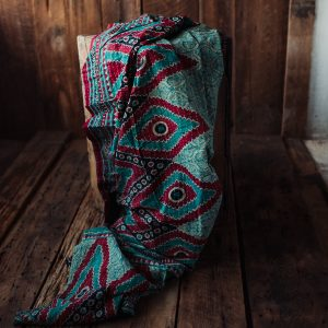 Kantha Quilt | Hand Stitched Recycled Fabric Throw | No. 27