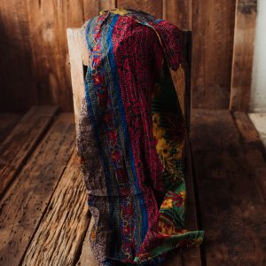 Kantha Quilt | Hand Stitched Recycled Fabric Throw | No. 48
