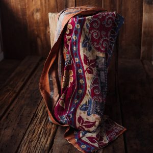 Kantha Quilt | Hand Stitched Recycled Fabric Throw | No. 62