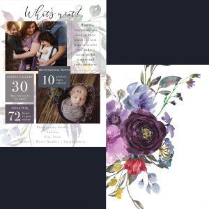 What's Next | Purple Floral