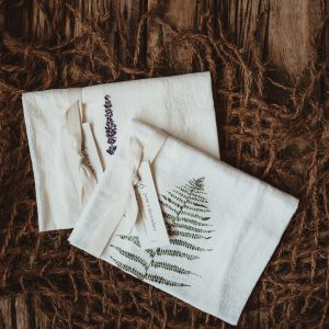 Kitchen Towel Set | Wood Fern + Lavender Fern