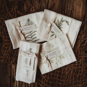 Kitchen Towel + Napkin Set | Fern Trio + Rosemary