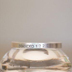 Tiny Aluminum BRANDED Cuff
