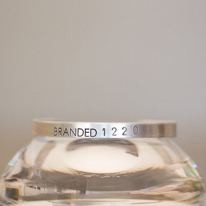 Tiny Aluminum BRANDED Cuff